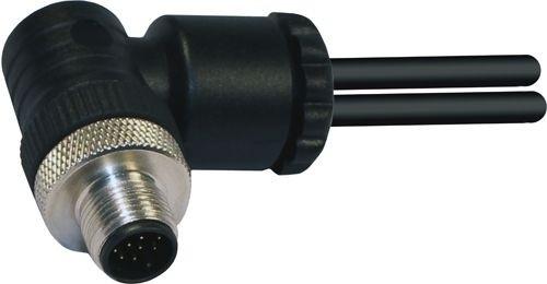 Sensorstecker M12 A-Codierung Stift gewinkelt PG9/11 Schraubanschluß 8P