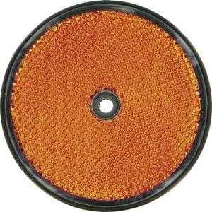 Rückstrahler 60mm orange rund 1 Loch