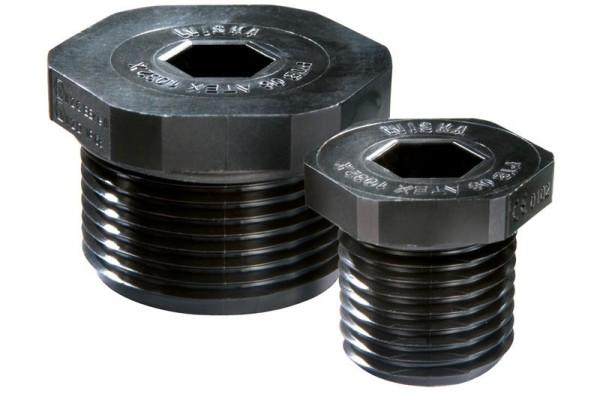 ATEX Verschlussschraubung, Polyamid, RAL9005 schwarz, EX-EVSG 12, M12x1,5