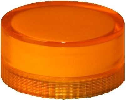 Lampenglas glatt für beleuchteten Drucktaster mit Glühlampe Orange
