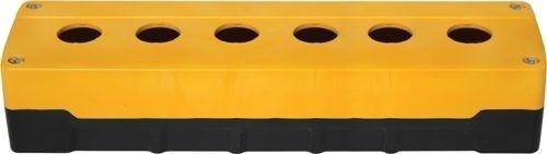 Leergehäuse PC 6 Löcher Unterteil: Schwarz Deckel: Gelb 273x73x51mm