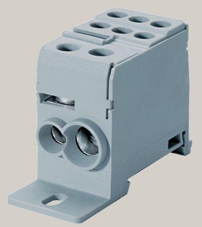 Verteilerklemme kompakt 6-35mm² Eingang 6-16mm² Ausgang 1100V 125A