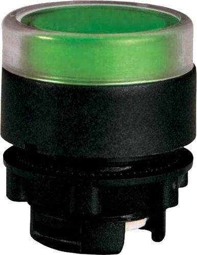 Drucktaster beleuchtet Plastik bündig Grün