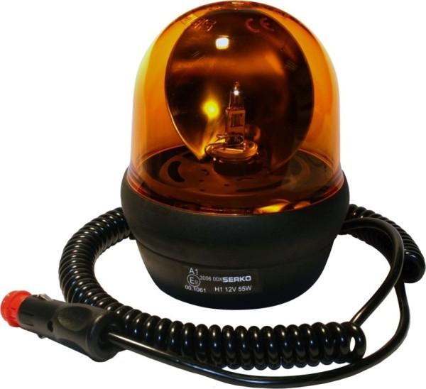 Rundumleuchte Halogen Orange Magnethalter 12V