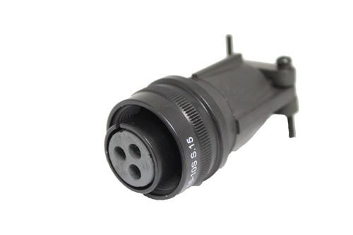 Kabelstecker MIL-C-5015 eloxiert 3106F 16-10 Buchse 3P 23A 500VAC