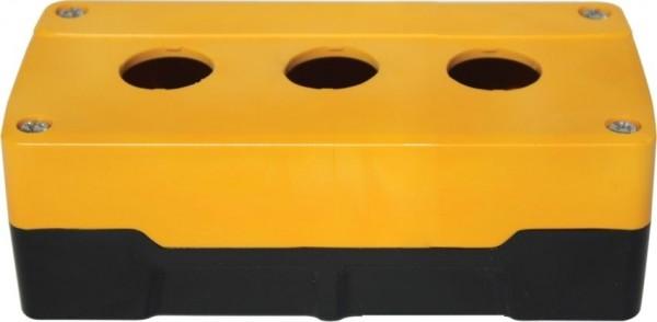 Leergehäuse PC 3 Löcher Unterteil: Schwarz Deckel: Gelb 153x73x51mm