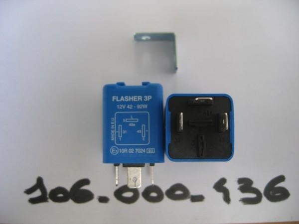Blinkrelais 12V 42-92W mit Fehlererkennung 3P