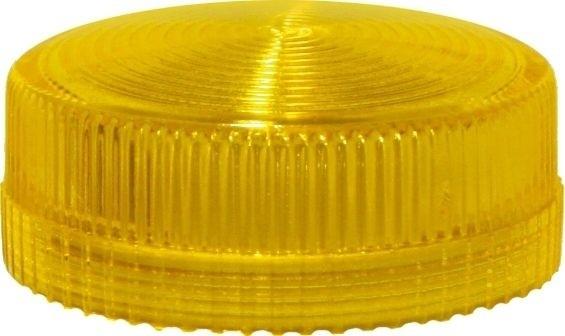 Lampenglas geriffelt für Meldeleuchte mit LED Gelb