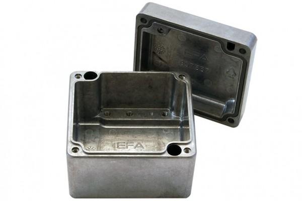 Aluminium-Druckguss-Gehäuse efabox 75x80x57mm IP68 Silikondichtung unbeschichtet