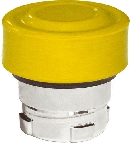 Drucktaster Metall bündig Gelb + Kappe Gelb