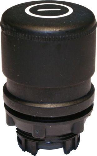 Pilzdrucktaster Plastik 30mm Zugentriegelung Schwarz