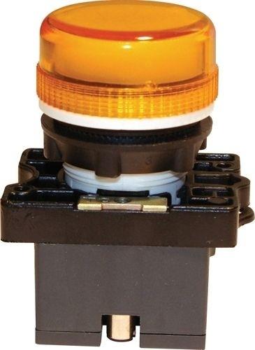 Meldeleuchte Plastik Orange + Fassung + LED 110V