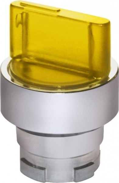 Wahlschalter beleuchtet Metall Gelb LR
