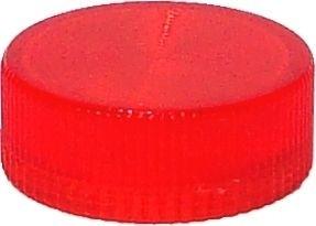 Lampenglas geriffelt für beleuchteten Drucktaster mit LED Rot