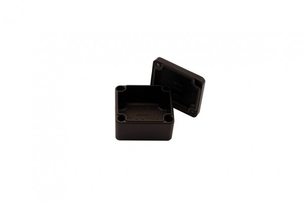 Aluminium-Druckguss-Gehäuse efabox 45x50x30mm IP68 Silikondichtung RAL9005 Schwarz