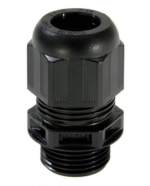 SPRINT-Kabelverschraubung LowTemp, RAL9005 schwarz, ESKV 16 LT, M16x1,5, 9mm