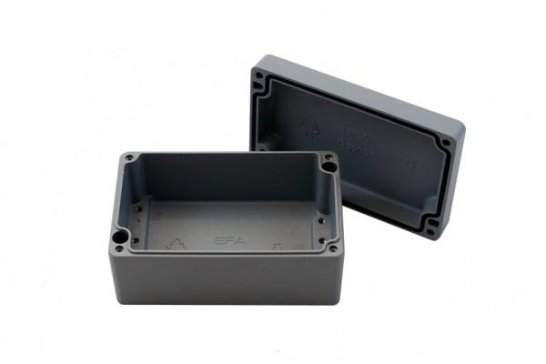 Aluminium-Druckguss-Gehäuse efabox 125x80x57mm IP69K Silikondichtung RAL7001 Silbergrau