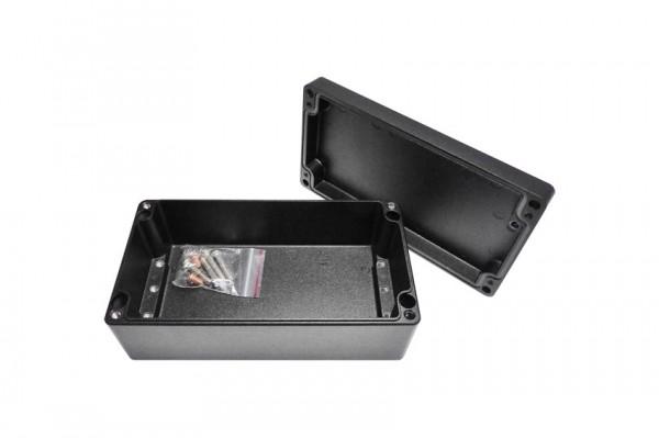 Aluminium-Druckguss-Gehäuse efabox 220x120x81mm IP68 Silikondichtung RAL9005 Schwarz