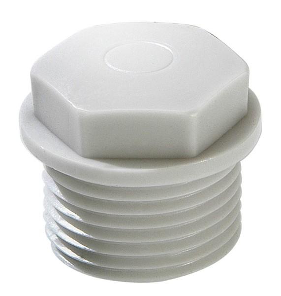 Würgenippel, geschlossene Ausführung, IP 54, Polyethylen, RAL7035 grau, EMN 32, M32x1,5, 11 - 22 mm