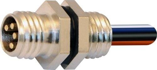 Sensorstecker M8 Stift Vorderwandmontage M8x1 4x0,25 Einzellitze 0,2m