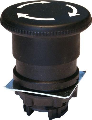 Pilzdrucktaster Plastik 40mm Drehentriegelung Schwarz
