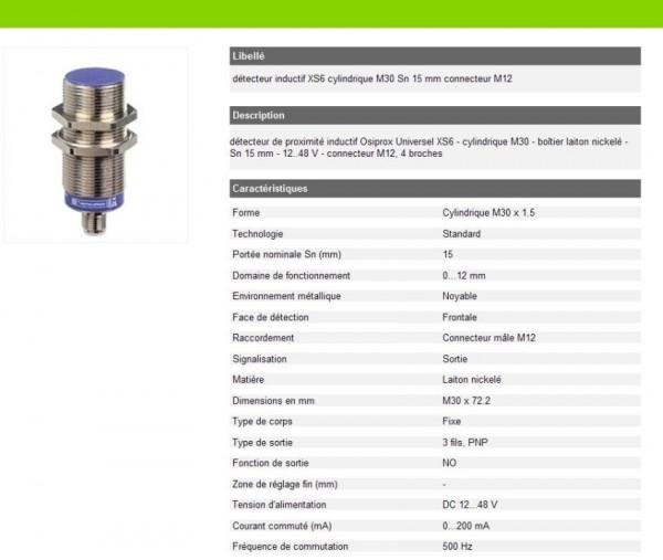 Näherungsschalter M30 XS630B1PAM12