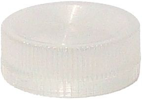Lampenglas geriffelt für beleuchteten Drucktaster mit LED Weiß