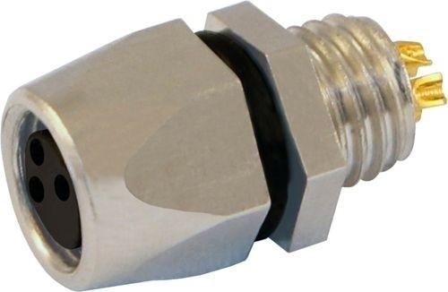 Sensorstecker M8 Buchse Vorderwandmontage M8x1 Lötanschluß 4P