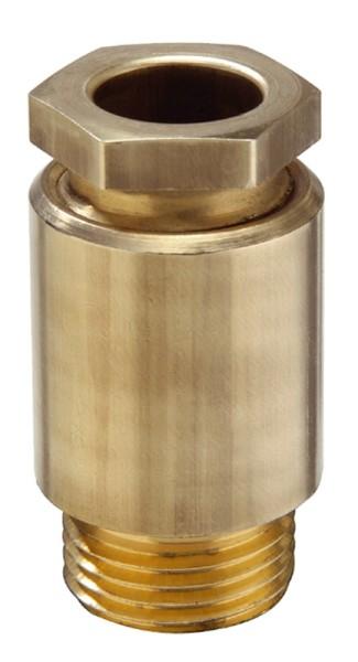 EMV-Kabelverschraubung aus Messing, Dichtring aus EPDM, Messing blank, mit Erdungseinsatz, KVM 45-Z30, M45x2, 28 - 30,5 mm