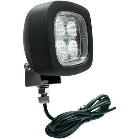 Arbeitscheinwerfer LED Weiß quadratisch 1 Befestigungsschraube 9-56V