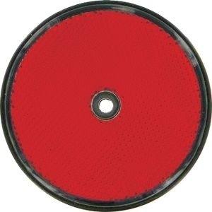 Rückstrahler 60mm rot rund 1 Loch
