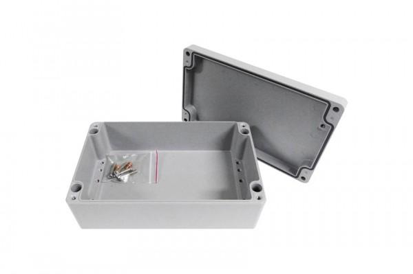 Aluminium-Druckguss-Gehäuse efabox 260x160x91mm IP68 Silikondichtung RAL7001 Silbergrau