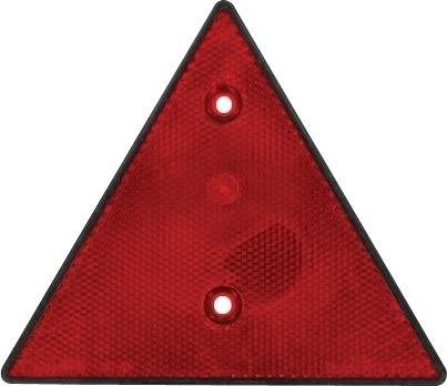 Rückstrahler dreieckig rot 2-Loch Befestigung 70mm