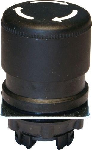 Pilzdrucktaster Plastik 30mm Drehentriegelung Schwarz