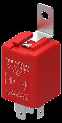 Relais für Licht-Einschaltverzögerung 15 Sekunden 12V 20A 3P