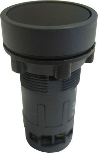 Drucktaster Monoblock rastend bündig Schwarz - 2NO