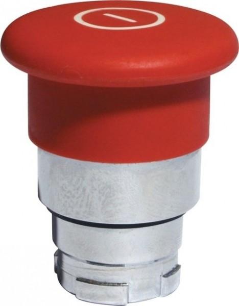 Pilzdrucktaster Metall 40mm Zugentriegelung Rot