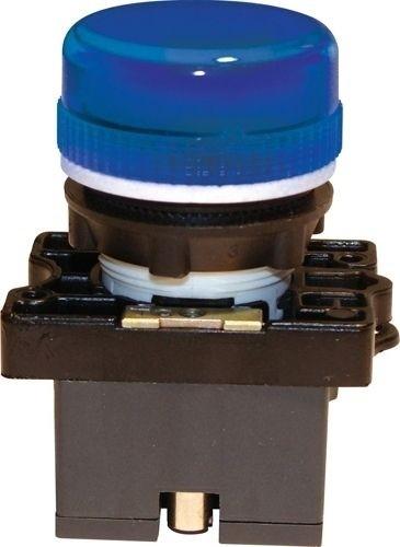 Meldeleuchte Plastik Blau + Fassung + Glühlampe 12V
