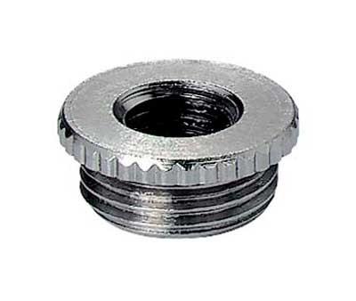 Reduzierung für Kabelverschraubung, Messing vernickelt, M20-M12