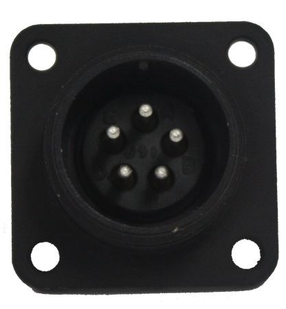 Gerätesteckdose MIL-C-5015 eloxiert 3102R 14S-5 Buchse 5P 13A 200VAC