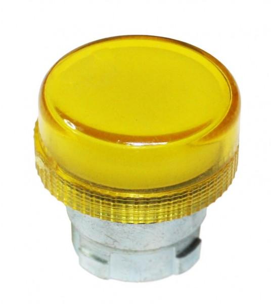 Meldeleuchte Metall Gelb