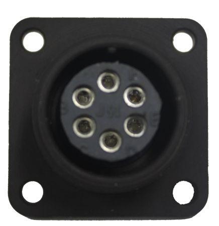 Gerätesteckdose MIL-C-5015 eloxiert 3102R 14S-6 Buchse 6P 13A 200VAC