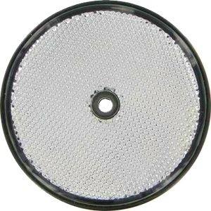 Rückstrahler 60mm weiß rund 1 Loch