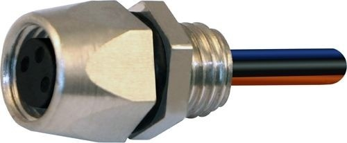 Sensorstecker M8 Buchse Vorderwandmontage M8x1 3x0,25 Einzellitze 0,2m