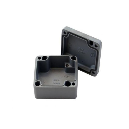Aluminium-Druckguss-Gehäuse efabox 100x100x81mm IP68 Silikondichtung RAL7001 Silbergrau