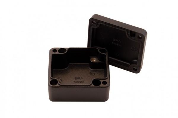 Aluminium-Druckguss-Gehäuse efabox 64x58x34mm IP68 Silikondichtung RAL9005 Schwarz