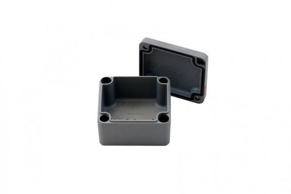 Aluminium-Druckguss-Gehäuse efabox 45x50x30mm IP68 Silikondichtung RAL7001 Silbergrau