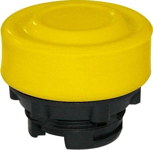 Drucktaster Plastik bekappt Gelb