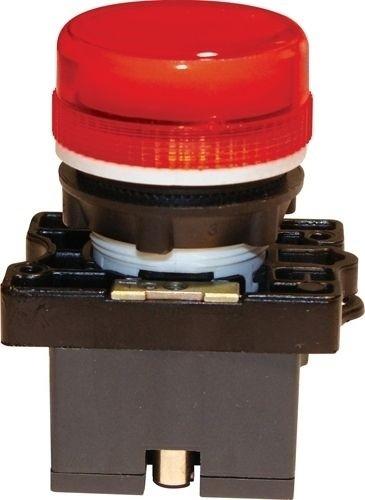 Meldeleuchte Plastik Rot + Fassung + Glühlampe 12V