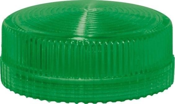 Lampenglas geriffelt für Meldeleuchte mit LED Grün